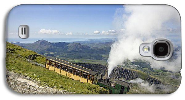 Transportation Photographs Galaxy S4 Cases - Steam Train To Snowdon Galaxy S4 Case by Ian Mitchell