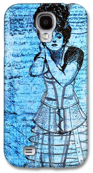 Steampunk Galaxy S4 Cases - Steampunk Girls in Blues Galaxy S4 Case by Nikki Marie Smith