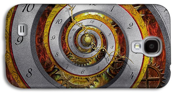 Steampunk - Galaxy S4 Cases - Steampunk - Spiral - Infinite time Galaxy S4 Case by Mike Savad