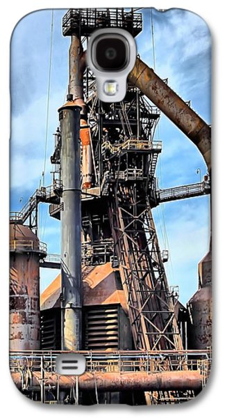 Bethlehem Galaxy S4 Cases - Steel Stacks Bethlehem Pa. Galaxy S4 Case by DJ Florek