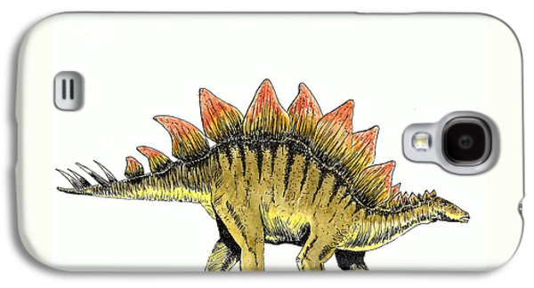 Stegosaurus Galaxy S4 Case by Michael Vigliotti