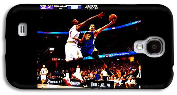 Charlotte Mixed Media Galaxy S4 Cases - Steph Curry Left Hand Galaxy S4 Case by Brian Reaves