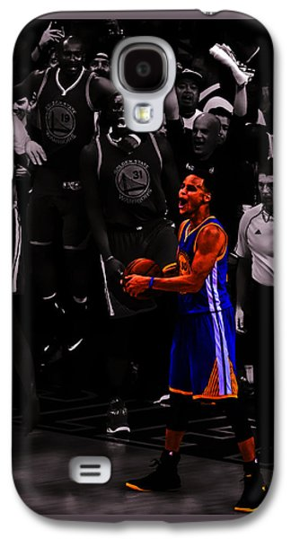 Charlotte Mixed Media Galaxy S4 Cases - Stephen Curry Sweet Victory Galaxy S4 Case by Brian Reaves