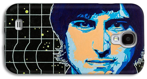 Chin On Hand Paintings Galaxy S4 Cases - Steve Jobs Galaxy S4 Case by Joe Ciccarone
