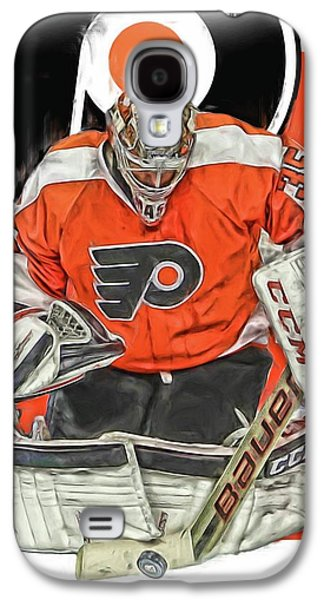 Steve Mason Philadelphia Flyers Oil Art Galaxy S4 Case by Joe Hamilton