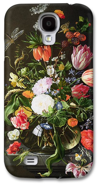 19th Galaxy S4 Cases - Still Life of Flowers Galaxy S4 Case by Jan Davidsz de Heem