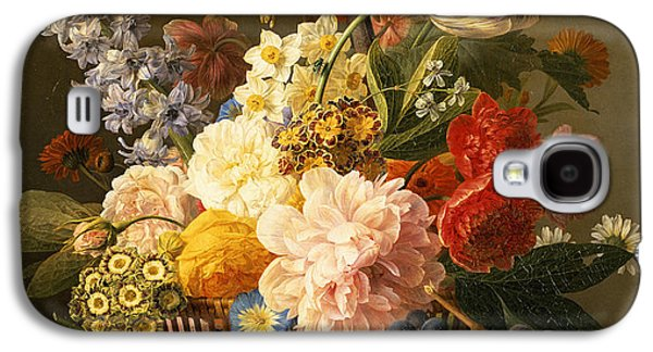 19th Galaxy S4 Cases - Still Life with Flowers and Fruit Galaxy S4 Case by Jan Frans van Dael