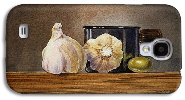 Still Life With Garlic And Olive Galaxy S4 Case by Irina Sztukowski