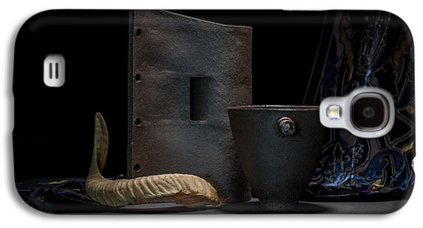 Still Life Ceramics Galaxy S4 Cases - Still Life with Horn Galaxy S4 Case by William Sulit