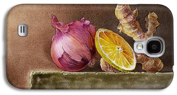 Still Life With Onion Lemon And Ginger Galaxy S4 Case by Irina Sztukowski