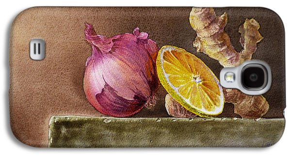 Museum Paintings Galaxy S4 Cases - Still Life With Onion Lemon And Ginger Galaxy S4 Case by Irina Sztukowski