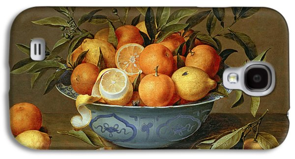 Still Life With Oranges And Lemons In A Wan-li Porcelain Dish  Galaxy S4 Case by Jacob van Hulsdonck
