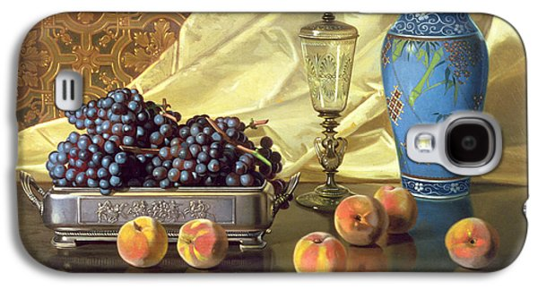 Still Life With Peaches Galaxy S4 Case by Edward Chalmers Leavitt