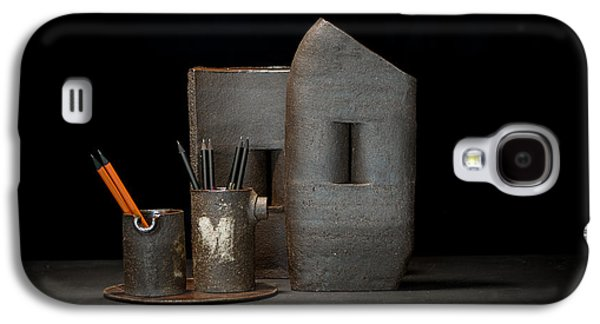 Still Life Ceramics Galaxy S4 Cases - Still Life with Pencils Galaxy S4 Case by William Sulit