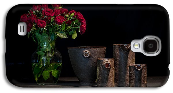 Still Life Ceramics Galaxy S4 Cases - Still Life with Roses Galaxy S4 Case by William Sulit