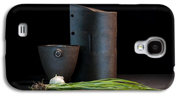 Still Life Ceramics Galaxy S4 Cases - Still Life with Shallots Galaxy S4 Case by William Sulit