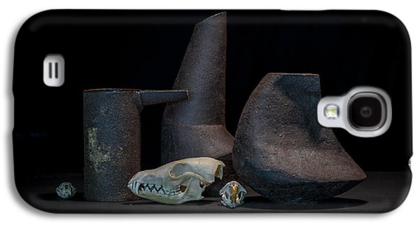 Still Life Ceramics Galaxy S4 Cases - Still Life with Skulls Galaxy S4 Case by William Sulit
