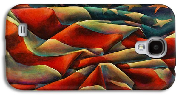 Stars And Stripes Paintings Galaxy S4 Cases - Still There Galaxy S4 Case by Michael Lang