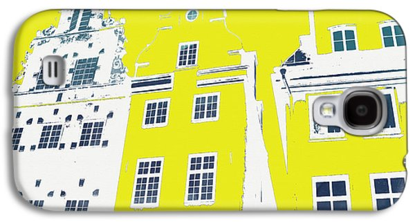 Buildings Mixed Media Galaxy S4 Cases - Stockholm Windows Galaxy S4 Case by Linda Woods