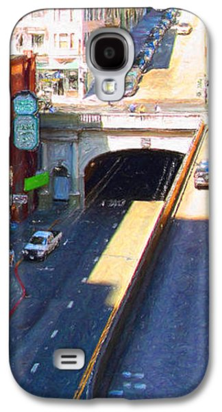 Long Street Digital Art Galaxy S4 Cases - Stockton Street Tunnel in Heavy Shadow . Long Version Galaxy S4 Case by Wingsdomain Art and Photography