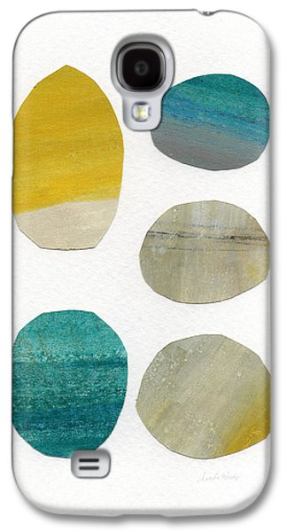 Abstracted Galaxy S4 Cases - Stones- abstract art Galaxy S4 Case by Linda Woods