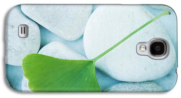 Stone Galaxy S4 Cases - Stones And A Gingko Leaf Galaxy S4 Case by Priska Wettstein