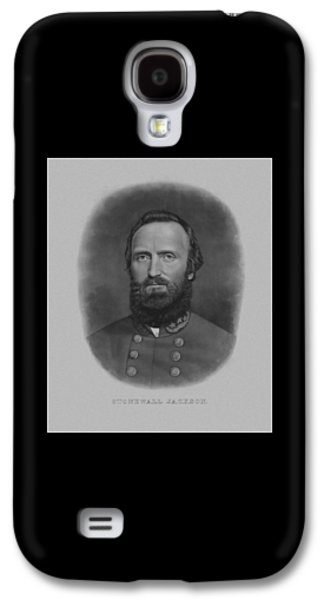Army Mixed Media Galaxy S4 Cases - Stonewall Jackson Galaxy S4 Case by War Is Hell Store