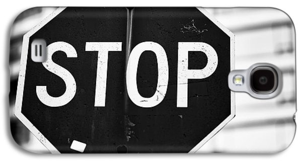 Stop Sign Galaxy S4 Cases - Stop Galaxy S4 Case by John Rizzuto