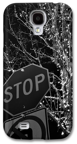Stop Sign Galaxy S4 Cases - Stop Lights Galaxy S4 Case by Noah Cole