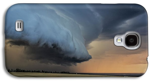 Storm Approaching Cape Tryon Lighthouse Galaxy S4 Case by Edward Fielding