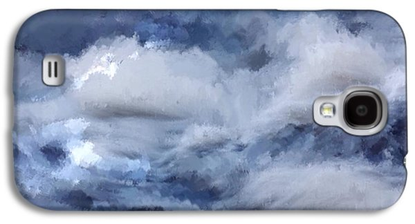 Storm Prints Mixed Media Galaxy S4 Cases - Storm at Sea Galaxy S4 Case by Mark Taylor