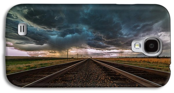 Storm Prints Photographs Galaxy S4 Cases - Storm Tracks Galaxy S4 Case by Darren  White