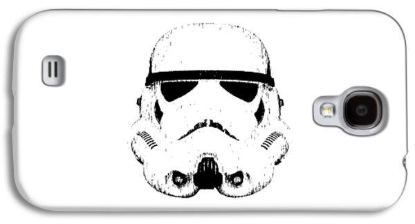 Ink Drawing Drawings Galaxy S4 Cases - Stormtrooper Helmet Star Wars Tee Black Ink Galaxy S4 Case by Edward Fielding