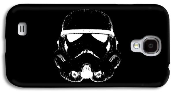 Recently Sold -  - Drawing Galaxy S4 Cases - Stormtrooper Helmet Star Wars Tee Galaxy S4 Case by Edward Fielding