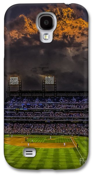Pennsylvania Baseball Parks Galaxy S4 Cases - Stormy Sunset at the Baseball Game Galaxy S4 Case by Nick Zelinsky