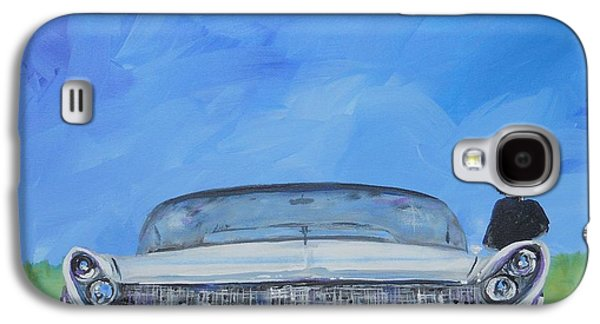 Neil Young Paintings Galaxy S4 Cases - Storytone Lincoln Galaxy S4 Case by David Keenan