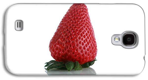 Michael Sweet Galaxy S4 Cases - Strawberry isolated on white Galaxy S4 Case by Michael Ledray
