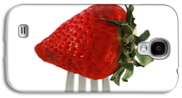 Michael Sweet Galaxy S4 Cases - Strawberry On A Fork Galaxy S4 Case by Michael Ledray