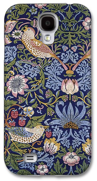 Animals Tapestries - Textiles Galaxy S4 Cases - Strawberry Thief Galaxy S4 Case by William Morris