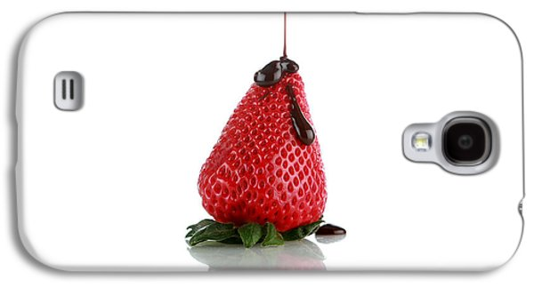 Michael Sweet Galaxy S4 Cases - Strawberrys and Chocolate Galaxy S4 Case by Michael Ledray