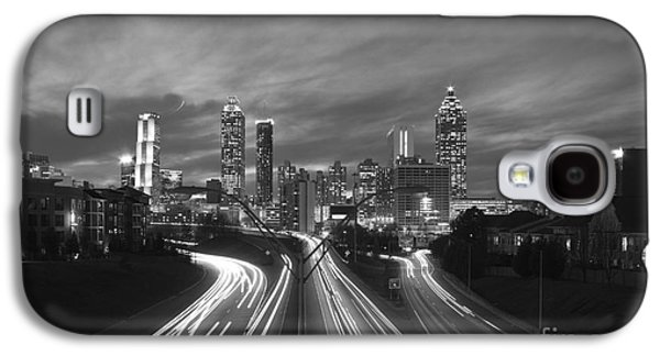 Transportation Photographs Galaxy S4 Cases - Streaking To and From Atlanta Night Lights Sunset 2 Galaxy S4 Case by Reid Callaway