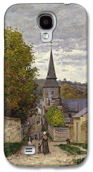 Town Paintings Galaxy S4 Cases - Street in Sainte Adresse Galaxy S4 Case by Claude Monet