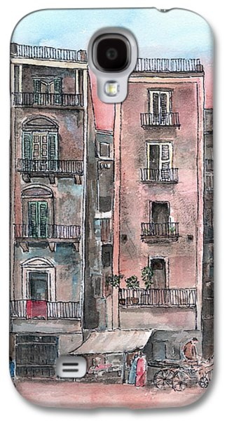 Streetscenes Paintings Galaxy S4 Cases - Street Scene At Twilight Galaxy S4 Case by Arline Wagner