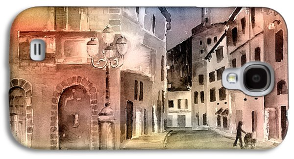 Streetscenes Paintings Galaxy S4 Cases - Street Scene In Italy Galaxy S4 Case by Arline Wagner
