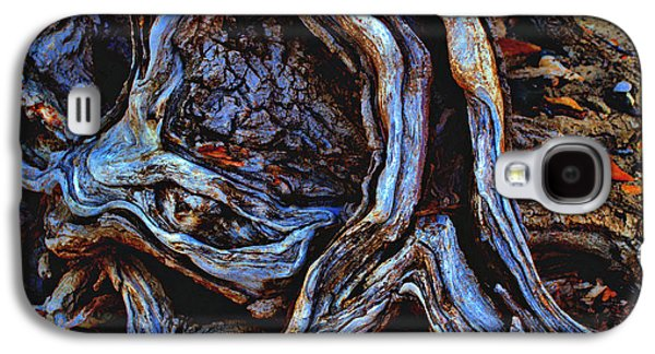 Tree Roots Pyrography Galaxy S4 Cases - Street Walker  Galaxy S4 Case by Eric Wait