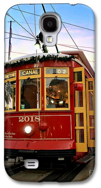 Historical Pictures Galaxy S4 Cases - Streetcar Sunset Galaxy S4 Case by Perry Webster