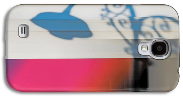 Abstract Digital Photographs Galaxy S4 Cases - Streetlamp Shadow On Moving Train Galaxy S4 Case by Gary Slawsky