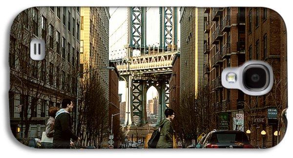 Dog Walking Digital Galaxy S4 Cases - Streets of Brooklyn Galaxy S4 Case by Alissa Beth Photography