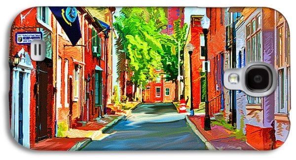 City Lights Galaxy S4 Cases - Streetscape in Federal Hill Galaxy S4 Case by Stephen Younts