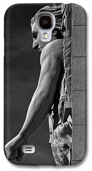 Relief Sculpture Galaxy S4 Cases - Strength B-W Galaxy S4 Case by Christopher Holmes